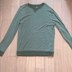 Men's long sleeve green shirt.